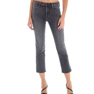FIDELITY / HIGH RISE CROP SLIM STRAIGHT JEANS